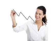 Het trekken van een grafiek Stock Fotografie