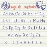 Het trekken van Engels alfabet vector illustratie
