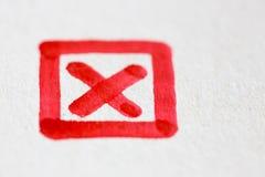 Het trekken van het kruis van de tekentik in kader Royalty-vrije Stock Afbeelding