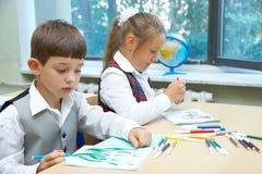 Het trekken van kinderen Stock Afbeelding