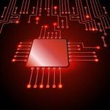 Het trekken van moderne elektronische kring vector illustratie