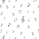 Het trekken van muzikaal patroon royalty-vrije illustratie