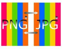 Het trekken van PNG in het embleem van het jpgdossier royalty-vrije illustratie