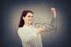Het trekken van uw spieren royalty-vrije stock fotografie