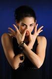 Het Trendy vrouw stellen Stock Foto's