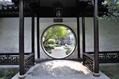 Het treuzelen van tuin in suzhou Stock Fotografie