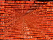 Het trillende Behang van de Oneindigheid van de Bakstenen muur Stock Fotografie