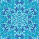 Het trillende cyaan grote geometrische natuurlijke naadloze patroon van het waterverfneon royalty-vrije illustratie