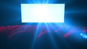 Het trillende witte scherm met lens van lege bioskoop vector illustratie