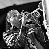 Het Trio van Brownmanelectryc speelt de Al Canadese Jazz Festival in Havenhoop, - 13 September, 2015 Royalty-vrije Stock Afbeelding