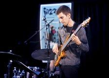 Het Trio van Brownmanelectryc speelt de Al Canadese Jazz Festival in Havenhoop, - 13 September, 2015 Royalty-vrije Stock Foto