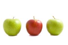 Het trio van de appel Stock Afbeeldingen
