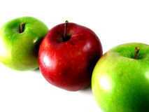 Het Trio van de appel Stock Fotografie