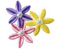 Het trio van de bloem applique Stock Afbeeldingen