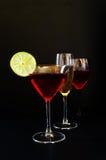 Het trio van de drank Royalty-vrije Stock Afbeelding