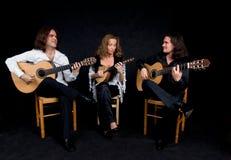 Het trio van de muziek Royalty-vrije Stock Afbeelding