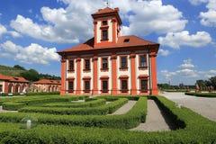 Het Trojapaleis is een Barok die paleis in Troja, het noordwestenstad wordt gevestigd van Praag (Tsjechische Republiek) Royalty-vrije Stock Fotografie