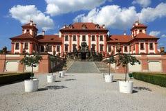 Het Trojapaleis is een Barok die paleis in Troja, het noordwestenstad wordt gevestigd van Praag (Tsjechische Republiek) Royalty-vrije Stock Foto's