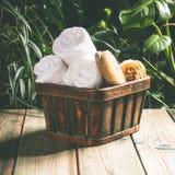 Het Tropical spa plaatsen stock foto