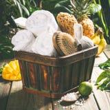 Het Tropical spa plaatsen royalty-vrije stock afbeeldingen