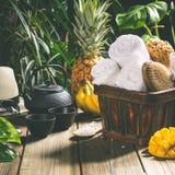 Het Tropical spa plaatsen royalty-vrije stock fotografie