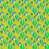 Het tropische Bloemen Naadloze Patroon van Orquideas Stock Foto