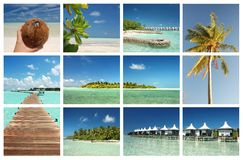 Het tropische concept van het paradijseiland Stock Foto
