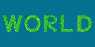 Het tropische eiland van de wereldtekst Stock Foto's