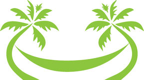 Het tropische Embleem van de Palmreis Stock Fotografie