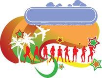 Het tropische Embleem van de Vakantie van Meisjes royalty-vrije illustratie