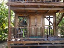 Het tropische Hotel Cabana, Reis van Toevluchtluxry royalty-vrije stock afbeelding