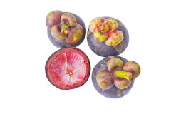 Het tropische mangostanfruit isoleert Stock Afbeeldingen