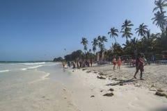Het tropische strand van Zanzibar Royalty-vrije Stock Afbeelding