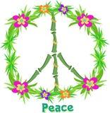 Het tropische Teken van de Vrede Stock Afbeelding