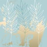 Het tropische Versleten Bloemenpastelkleurroze bloost gouden patroon royalty-vrije stock foto