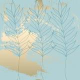 Het tropische Versleten Bloemenpastelkleurroze bloost gouden patroon stock afbeeldingen
