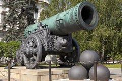 Het tsaarkanon, Moskou het Kremlin, Rusland. Royalty-vrije Stock Afbeeldingen