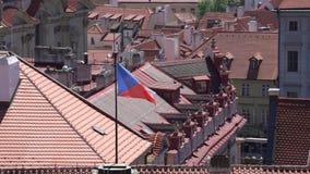 Het Tsjechische Vlag Golven stock footage