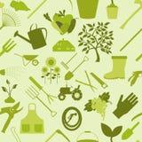 Het tuinieren Achtergrond Naadloos patroon Royalty-vrije Stock Afbeeldingen