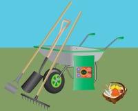 Het tuinieren Hulpmiddelen Royalty-vrije Stock Foto