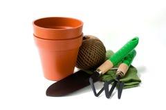 Het tuinieren hulpmiddelen Stock Afbeelding