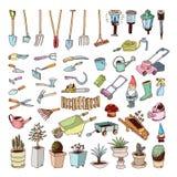 Het tuinieren Hulpmiddelen, illustratievector Stock Afbeelding