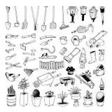 Het tuinieren Hulpmiddelen, illustratievector Royalty-vrije Stock Afbeeldingen