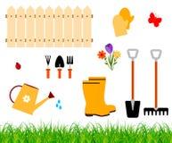 Het tuinieren hulpmiddelenvector royalty-vrije illustratie