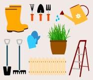 Het tuinieren hulpmiddelenvector vector illustratie
