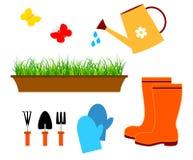 Het tuinieren hulpmiddelenvector stock illustratie