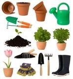 Het tuinieren inzameling Stock Foto