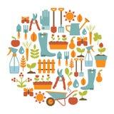 Het tuinieren kaart royalty-vrije illustratie