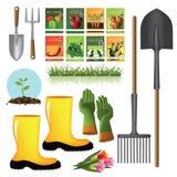 Het tuinieren leveringsinzameling Stock Afbeeldingen