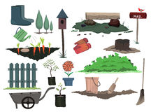 Het tuinieren ontwerp Stock Afbeeldingen